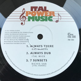 "RAS McBEAN - Always There (Ital Power Music 12"")"