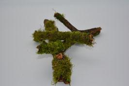 Holzstöcke bewachsen mit Moos 3 Stk