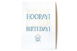 hundestrand, Geburtstagskarte, Cotton Feinstpapier