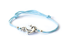 "hundestrand, Armband ""Anker"" mit Schiebeknoten, blau"