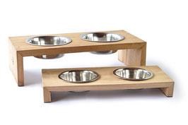51DegreesNorth, Hundenapf Dinner Bowl Double, Teak
