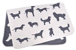 David Fussenegger, Hundedecke Hunde allover, 70 x 90 cm