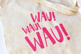 "hundestrand, Stofftasche ""Wau Wau Wau"", 38 x 42 cm"