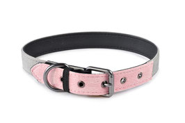 51DegreesNorth, Hundehalsband, Milano Cord, Rosé-Grau