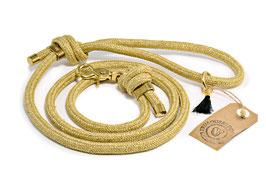 Frimousse Dog, Hundeleine Gold, 150 cm x 1 cm