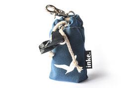 inke., Kotbeutelspender mini MÖWE, 9 cm, inkl. 15 BIO-Hundekotbeutel