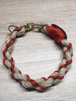 Zwirbel Halsband mit Brummelhacken Verschluss in Messing und Stahl