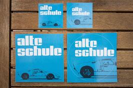 """Aufkleberset """"Alte Schule"""" (4 Stück)"""