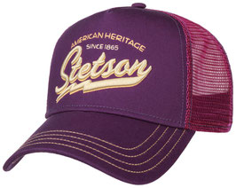 "Stetson Trucker Cap ""Classic Racing Team"" in Weinrot / Bordeaux"
