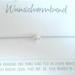 Make a Wish - Wunscharmband mit Sternchen