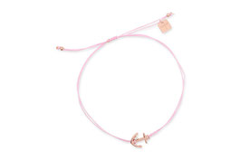 Armband - Filigree Anchor - Pink Gummiband