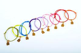 Glücksarmband (goldfarbenes Kleeblatt) bekannt aus der InStyle