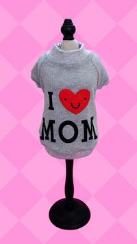 "Hundepullover ""I love MOM"" grau"