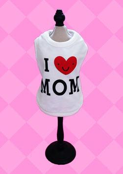 """T-Shirt """"I love MOM"""" weiß"""