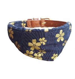 Halsband Blau gold Tuch