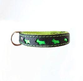 Halsband grün/schwarz