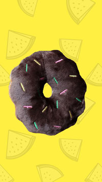 Hundespielzeug Schoko Donut