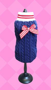 Pullover dunkelblau mit Zopfmuster