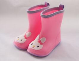 2- Roze regenlaarsjes met konijntje