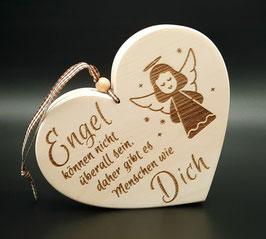 Herz mit Schutzengel aus Zirbe!