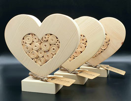 Zirben Holz Herz gefüllt, nicht nur zum Muttertag oder Valentinstag!