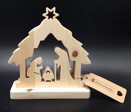 Zirben Holz Krippe, eine Geschenkidee zu Weihnachten
