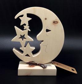 Personalisierbares Geschenk zur Geburt oder Taufe aus Zirben Holz