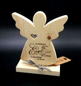 Engel aus Zirben Holz mit Spruch, wunderbar gearbeitet!