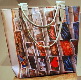 Meeus Tasche Unikat Kartenwand/Atelier