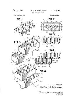 Patent LEGO brick 1961