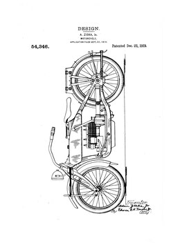 Motorcycle patented 1919