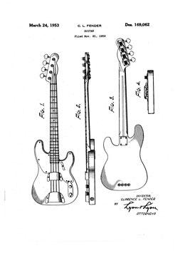 Patent Fender Guitar 1952