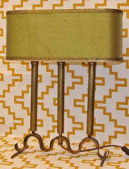 Lampada in metallo dorato, modernariato