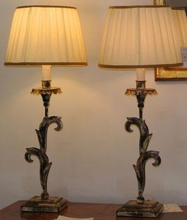 Coppia di lampade in ferro