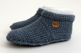 ALPAKA-Slipper-Booties |  graublau