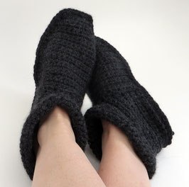 ALPAKA-Slipper-Booties |  anthrazit