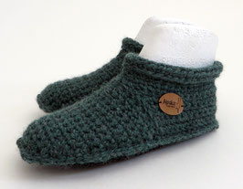 ALPAKA-Slipper-Booties | smaragd