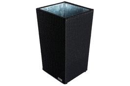 Pflanzgefäß, Polyrattan, 45x45x80,5cm