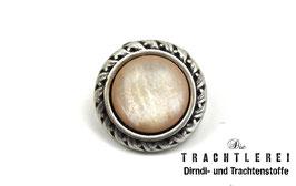 Trachtenknopf alt-silber Einlage Sandstein G10095