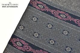 Schürzenrapport Beigeblau-Malve E10241/2
