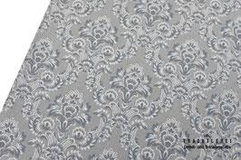 Trachtenstoff Baumwolle Mittelgrau Ornamente B10342