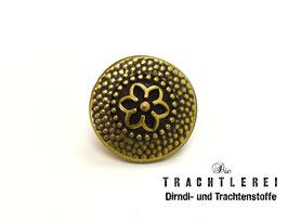 Trachtenknopf alt-gold G10053