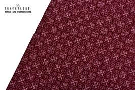Trachtenstoff Baumwolle Bordeaux kl. Motive B10323