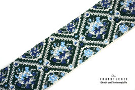 Gummiband für Trachtengürtel Blau - Hellblau - Grün I10014
