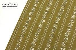 Trachtenstoff Baumwolle Flechtengrün gestreift B10349