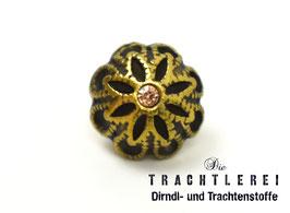Trachtenknopf alt-gold Strass G10097