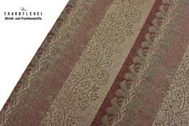 Trachtenjacquard Sabel-Graugrün-Dunkelrot A10325