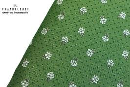Trachtenjacquard Blattgrün Streublumen A10357