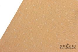 Baumwolljacquard Tüpfelchen Senf-Grau A10451