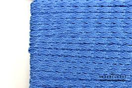 Posamentenborte Zopfmotiv Copen Blau K20018